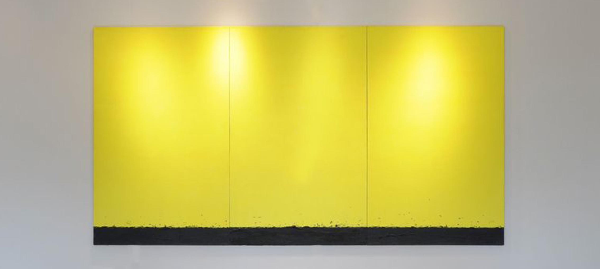 Tomasz Zawadzki, Bez tytułu, akryl płótno, 200 x 375 cm, 1996