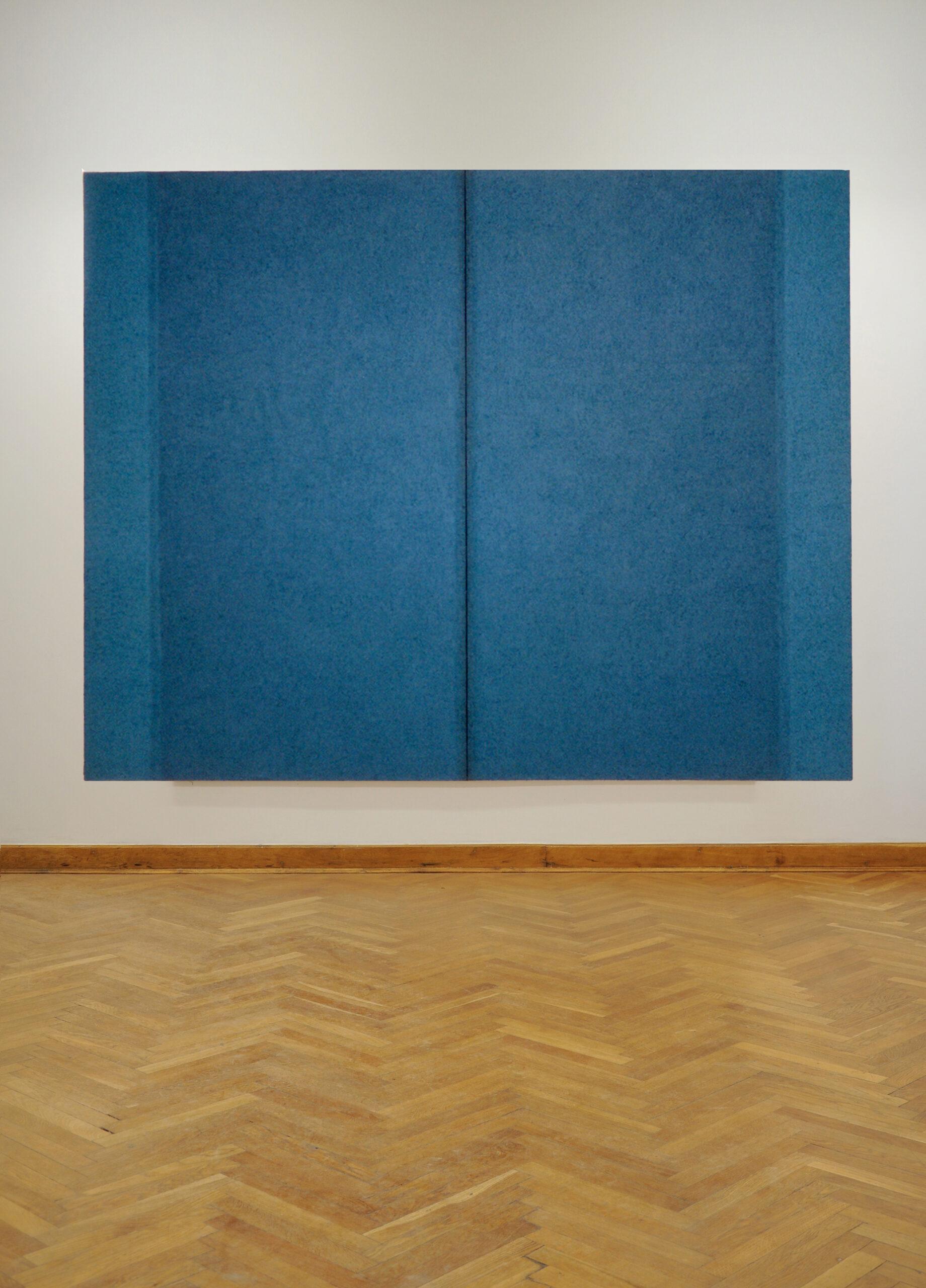 Tomasz Zawadzki,Bez tytułu,akryl,płótno,200x250cm widok z wystawy indywidualnej-Notatki na temat malarstwa 1995-2012, Muzeum Lubelskie 2012