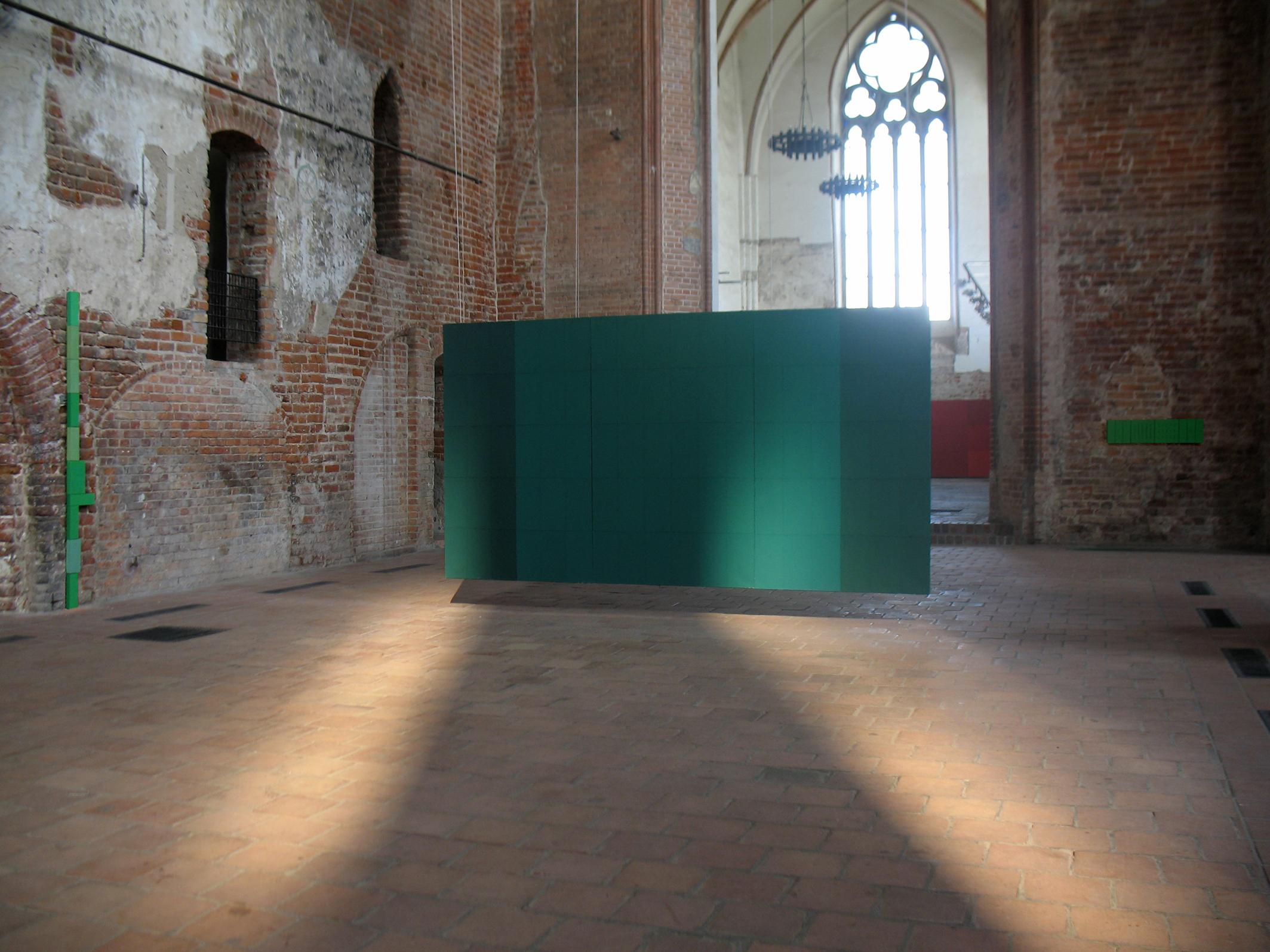 Tomasz Zawadzki,widok z wystawy indywidualnej-Forma koloru,Centrum Sztuki Galeria EL,Elbląg,2009