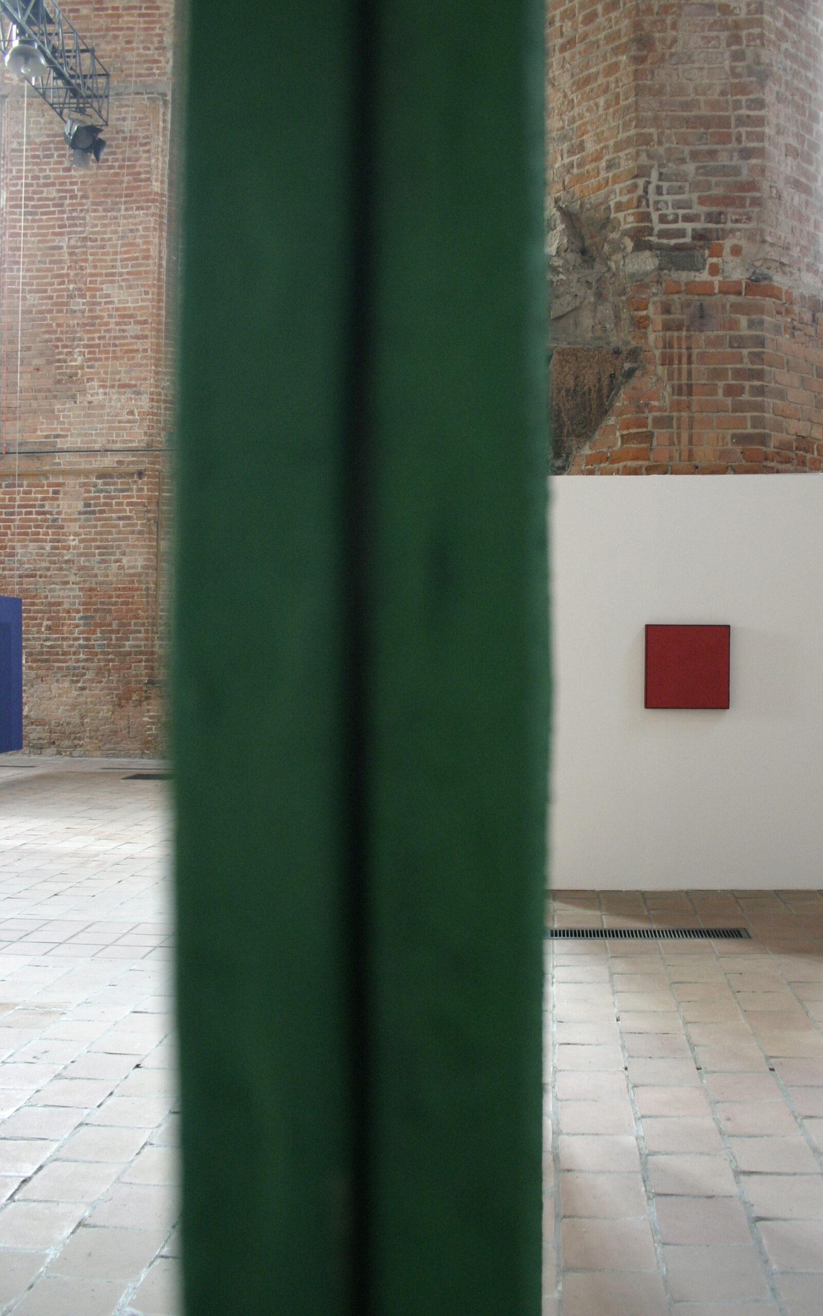 Tomasz Zawadzki,widok z wystawy indywidualnej-Forma koloru,Centrum Sztuki Glaeria EL, Elbląg,2009[fot Piotr Grdeń