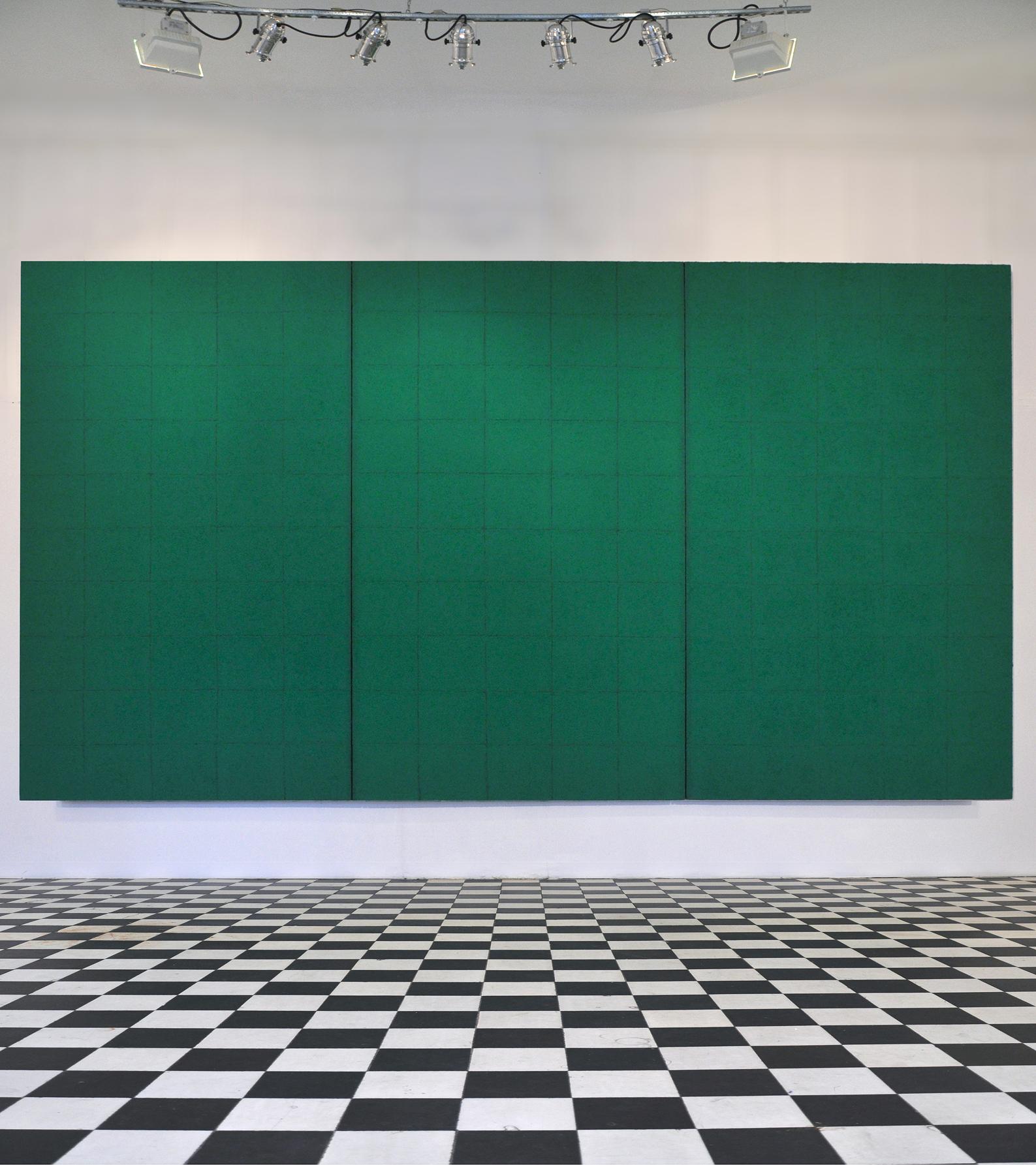 Tomasz Zawadzki, Bez tytułu, akryl,płótno, 200x375cm,2009,widok z wystawy Notatki na temat malarstwa,Galeria Wystawa, Warszawa,2010