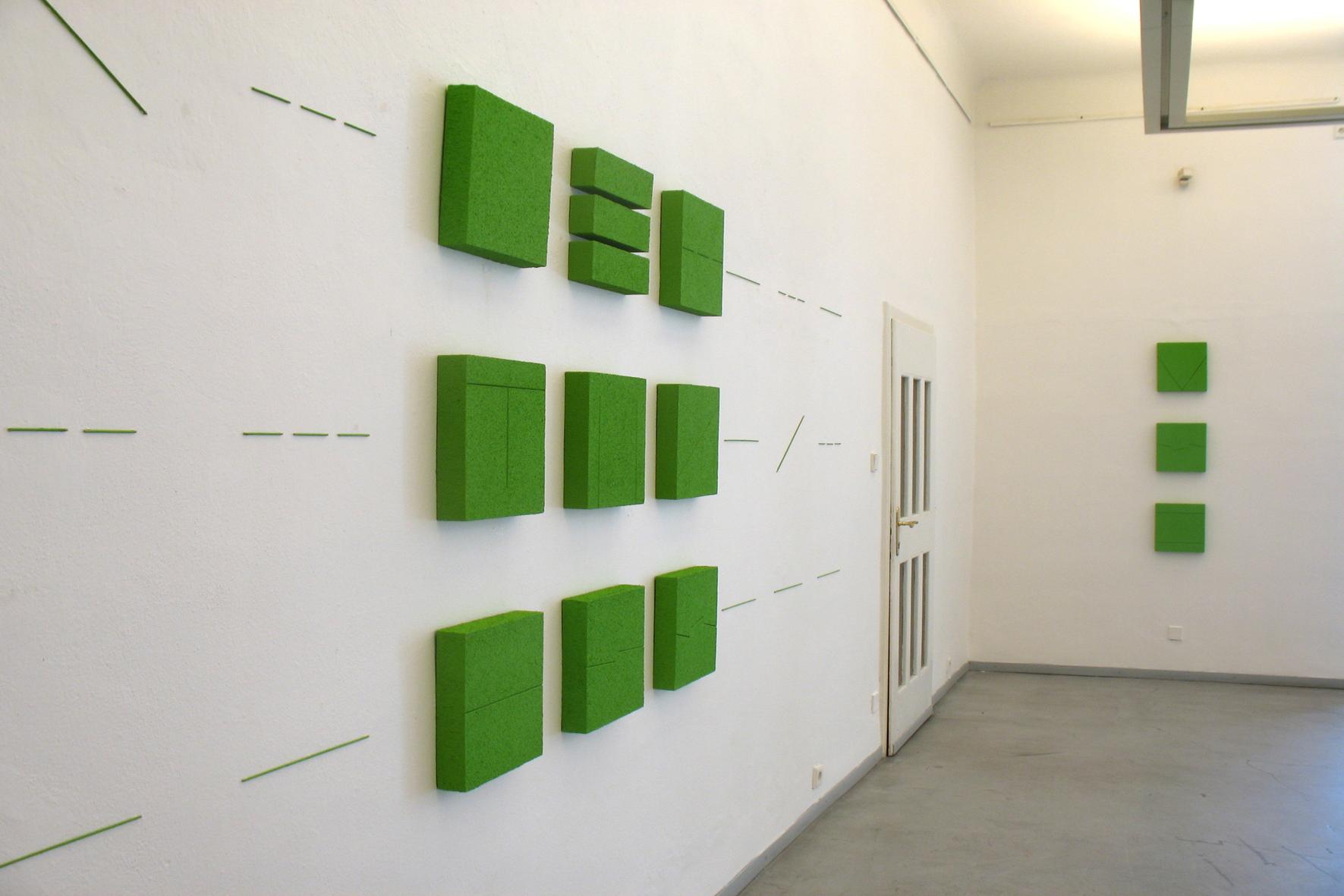 Tomasz Zawadzki,widok z wystawy The Waypoint 2010,Galeria Caesar,Ołomuniec,Czechy,2008