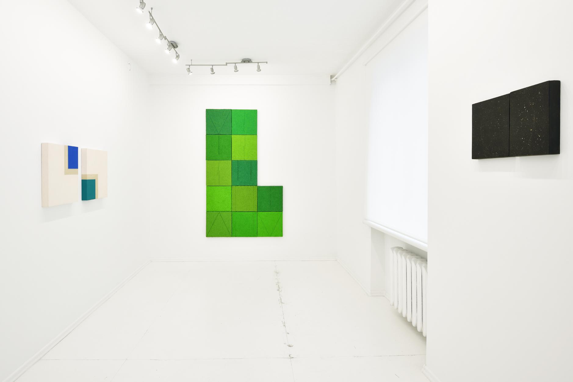 Tomasz Zawadzki,widok z wystawy indywidualnej-Obrazy,Galeria Bardzo Biała,Warszawa,2018[fot Adam Gut]